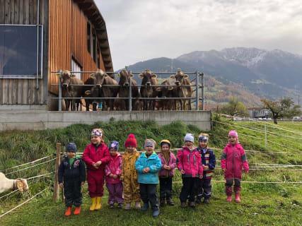 Naturkindergarten am Gauensteiner Hof im Montafon.