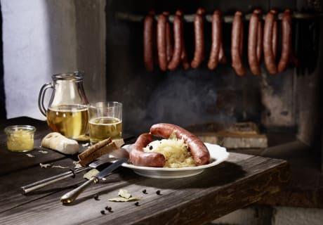 Selcher und Sauerkraut