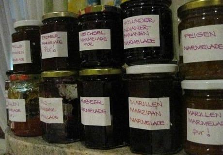 Weinpension Andrea - hausgemachte Marmeladen