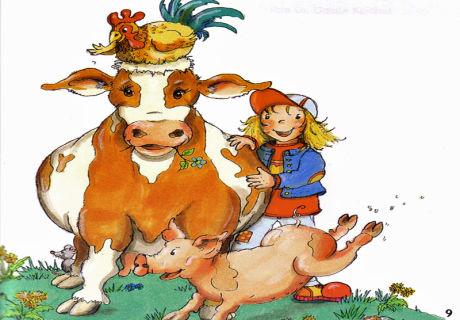 Spaß am Bio.Bauernhof auch bei uns gibt es Kühe, Hühner, Schweine (nur im Sommer) und natürlich Mäuse