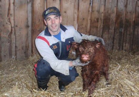 Karl mit Zottibaby