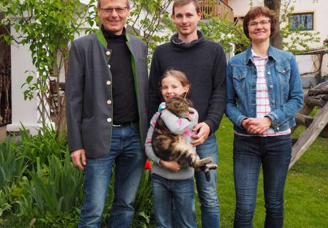 Familie im Frühling