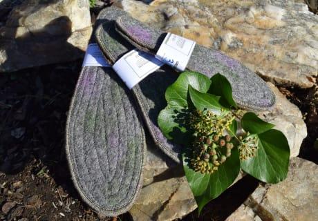 Schuheinlagen aus Alpakawolle