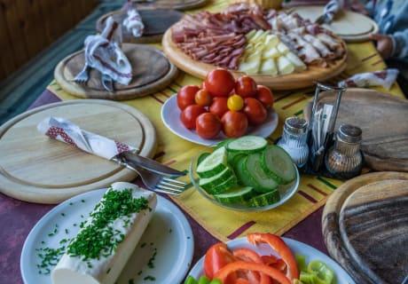 Hofprodukte kulinarisch als Jause gerichtet