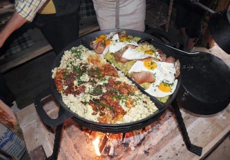 Pfannengericht in der Lanfthütte