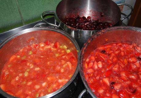 Sommerliche Marmeladen