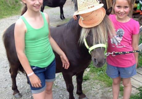Unser Pony ist gut behütet