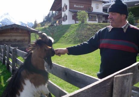 "Bauer Josef mit Bock ""Isidor"""