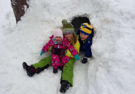 Hurra der Schnee ist da!