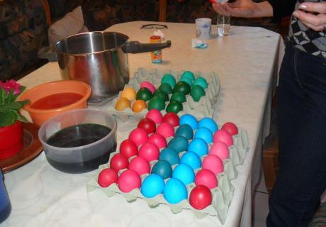 Gefärbte Eiern Für Unsere Gäste