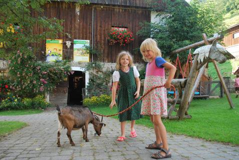 """Spaziergang mit unserer Ziege """"Susi"""""""