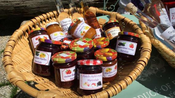 Hausgemachte Marmeladencuvées