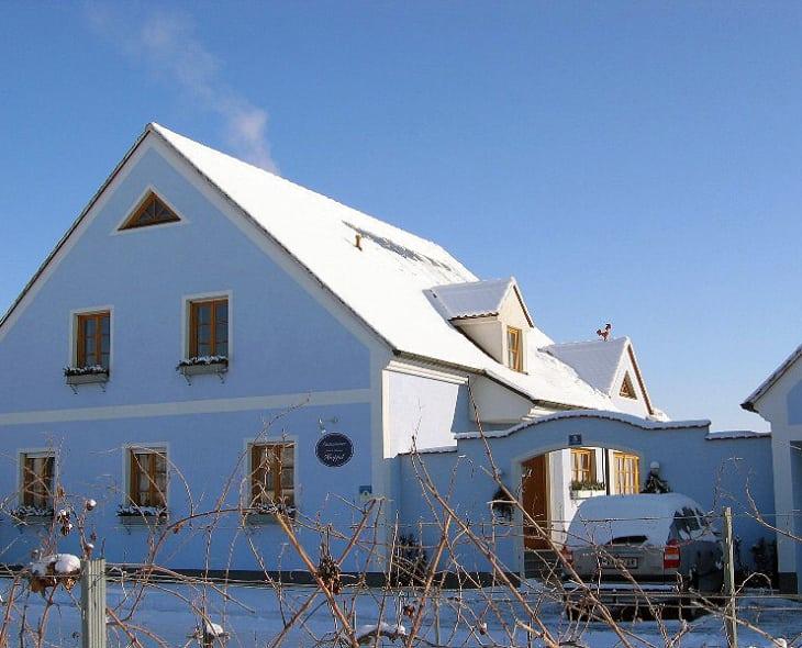 Gästehaus im Winter
