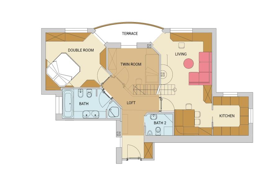 Zirbel Chalet Suite