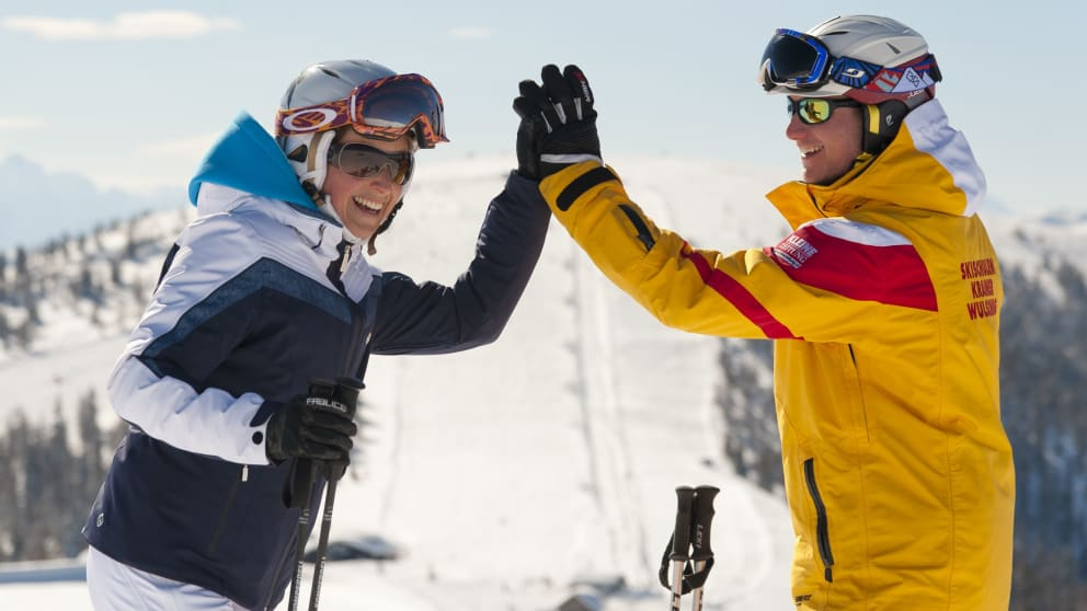 Sun Skiing in March