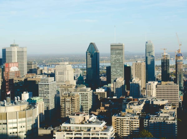 View of Montreal city