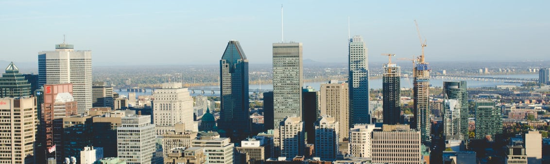 view of the city of Montreal