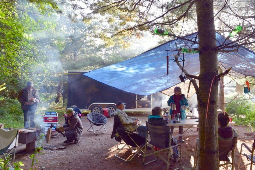 tarp set-up for camping