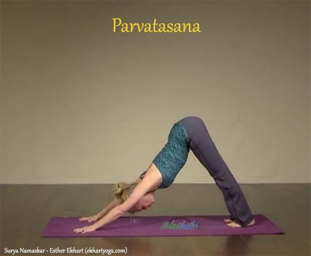 Parvatasana - Surya Namaskar