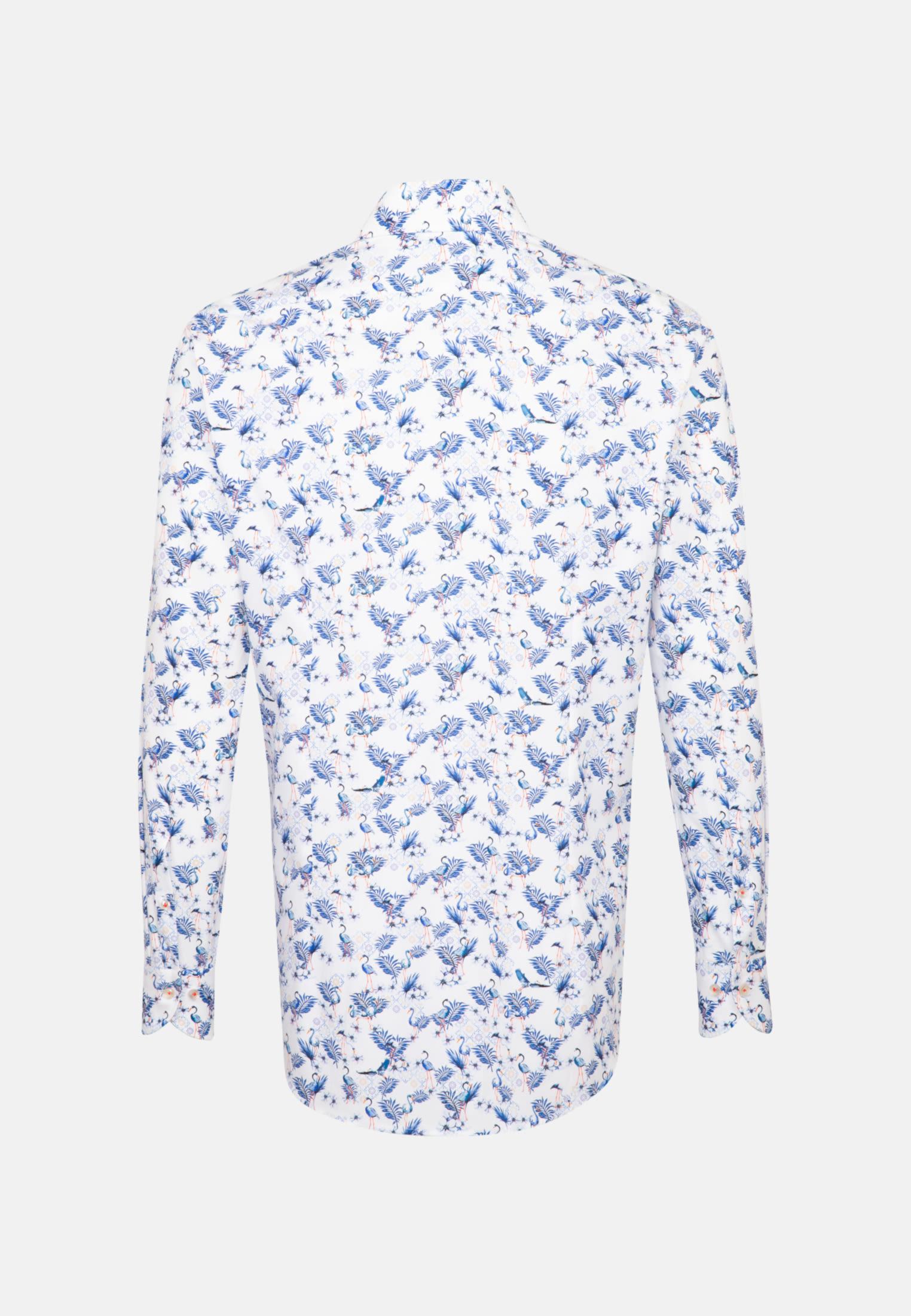 Popeline Business Hemd in Slim Fit mit Haifischkragen in Dunkelblau |  Jacques Britt Onlineshop