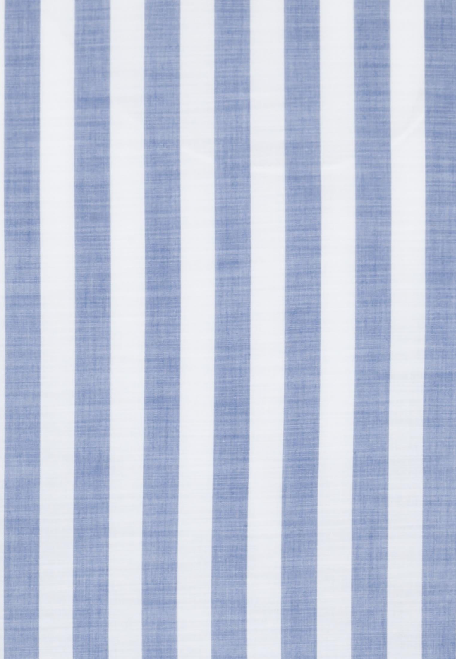 Popeline Smart Casual Hemd in Perfect Fit mit Stehkragen in Mittelblau |  Jacques Britt Onlineshop