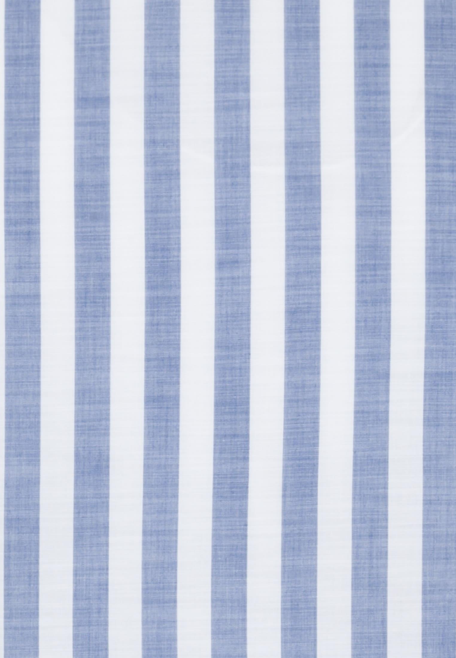 Popeline Smart Casual Hemd in Perfect Fit mit Stehkragen in Mittelblau    Jacques Britt Onlineshop