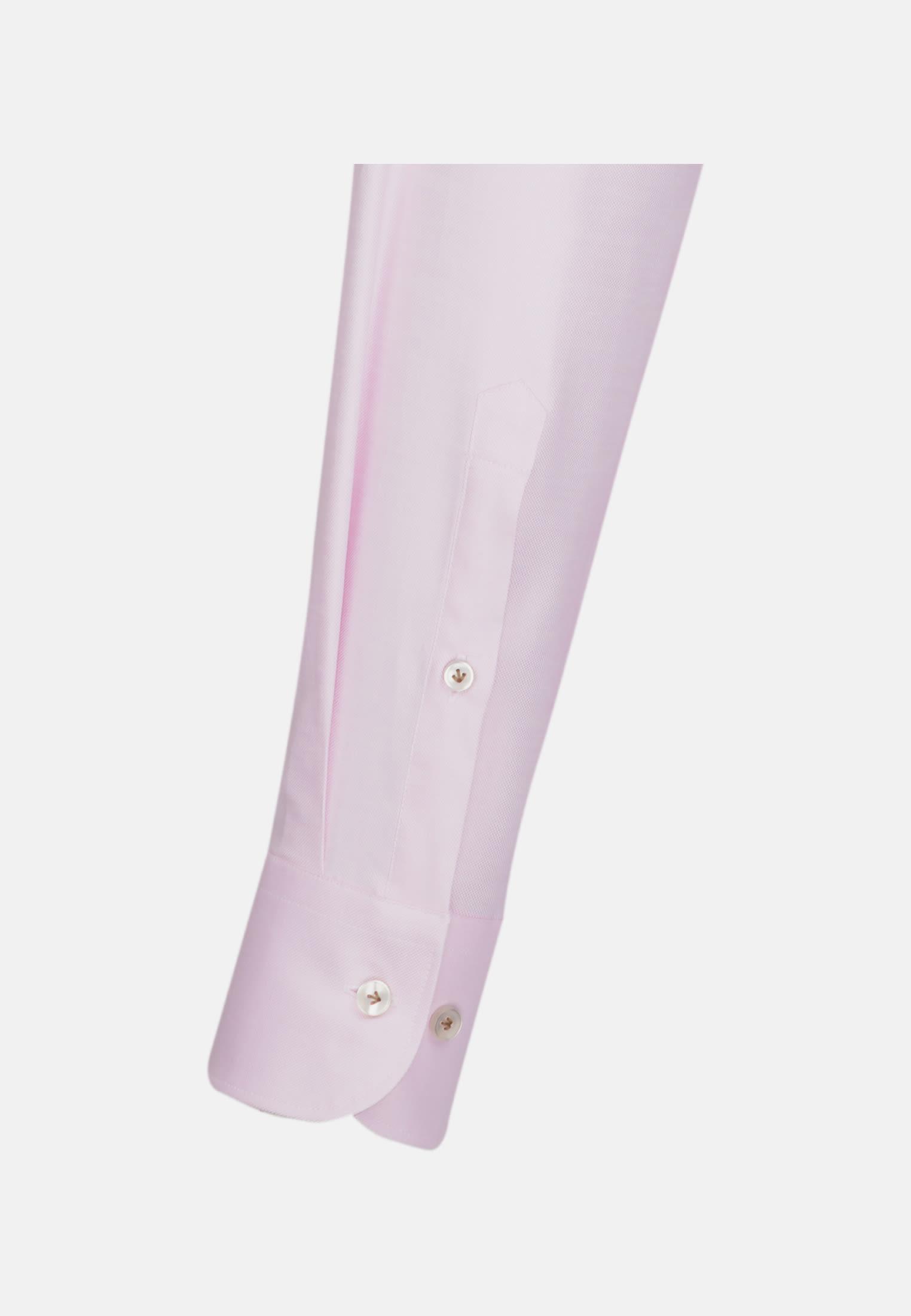 Oxford Business Hemd in Custom Fit mit Under-Button-Down-Kragen in Rosa/Pink |  Jacques Britt Onlineshop