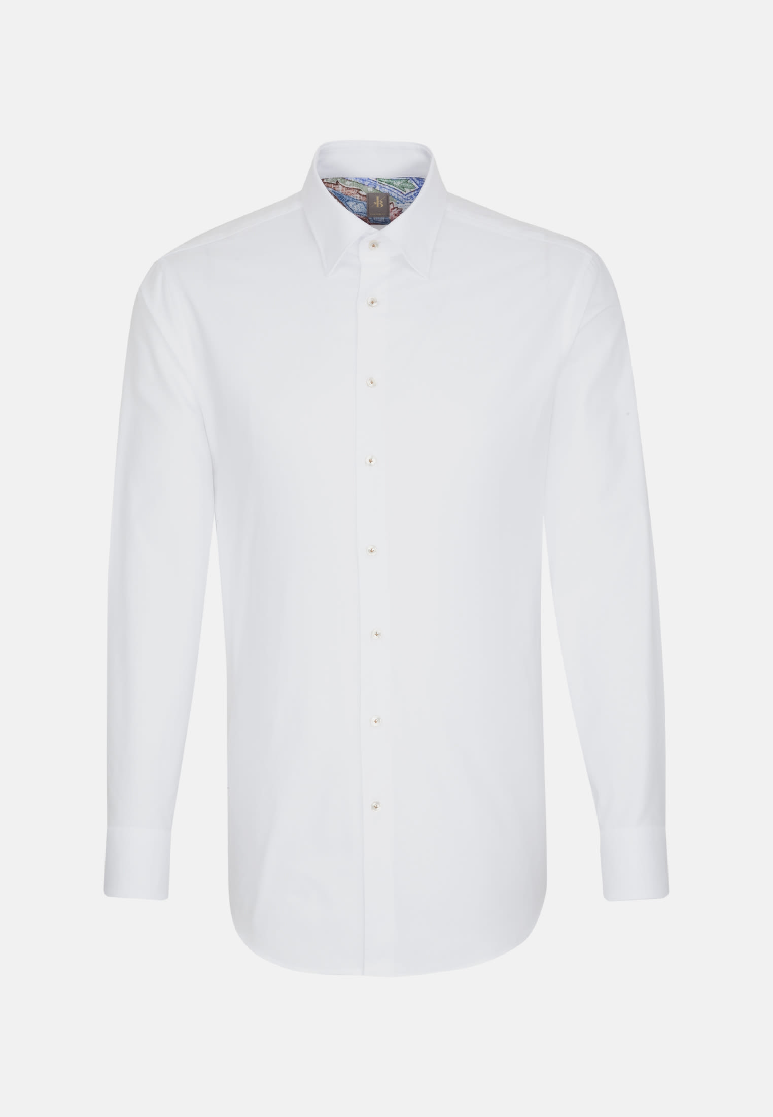 Oxford Business Hemd in Custom Fit mit Under-Button-Down-Kragen in Weiß |  Jacques Britt Onlineshop