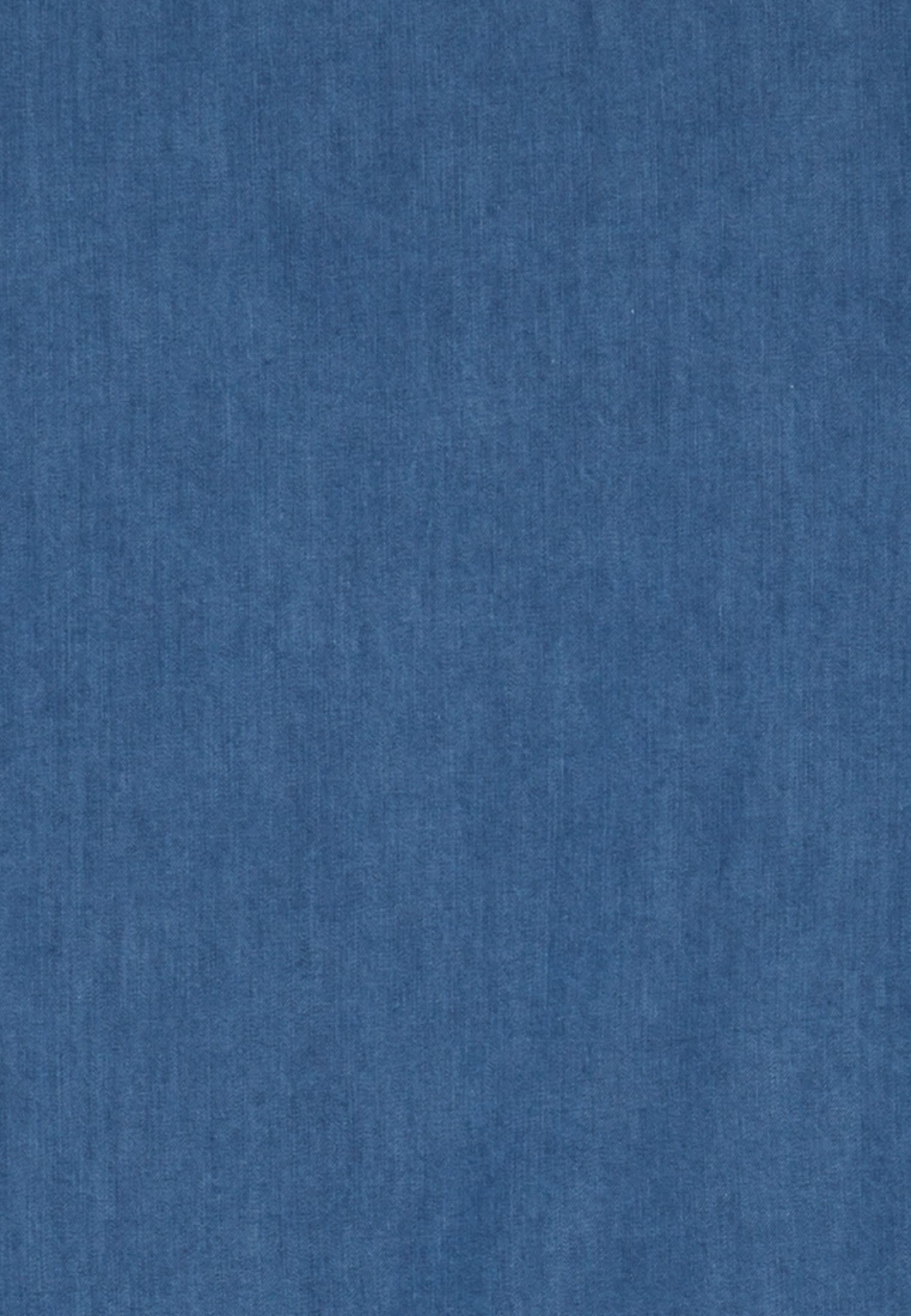Denim Smart Casual Hemd in Perfect Fit mit Haifischkragen in Mittelblau |  Jacques Britt Onlineshop