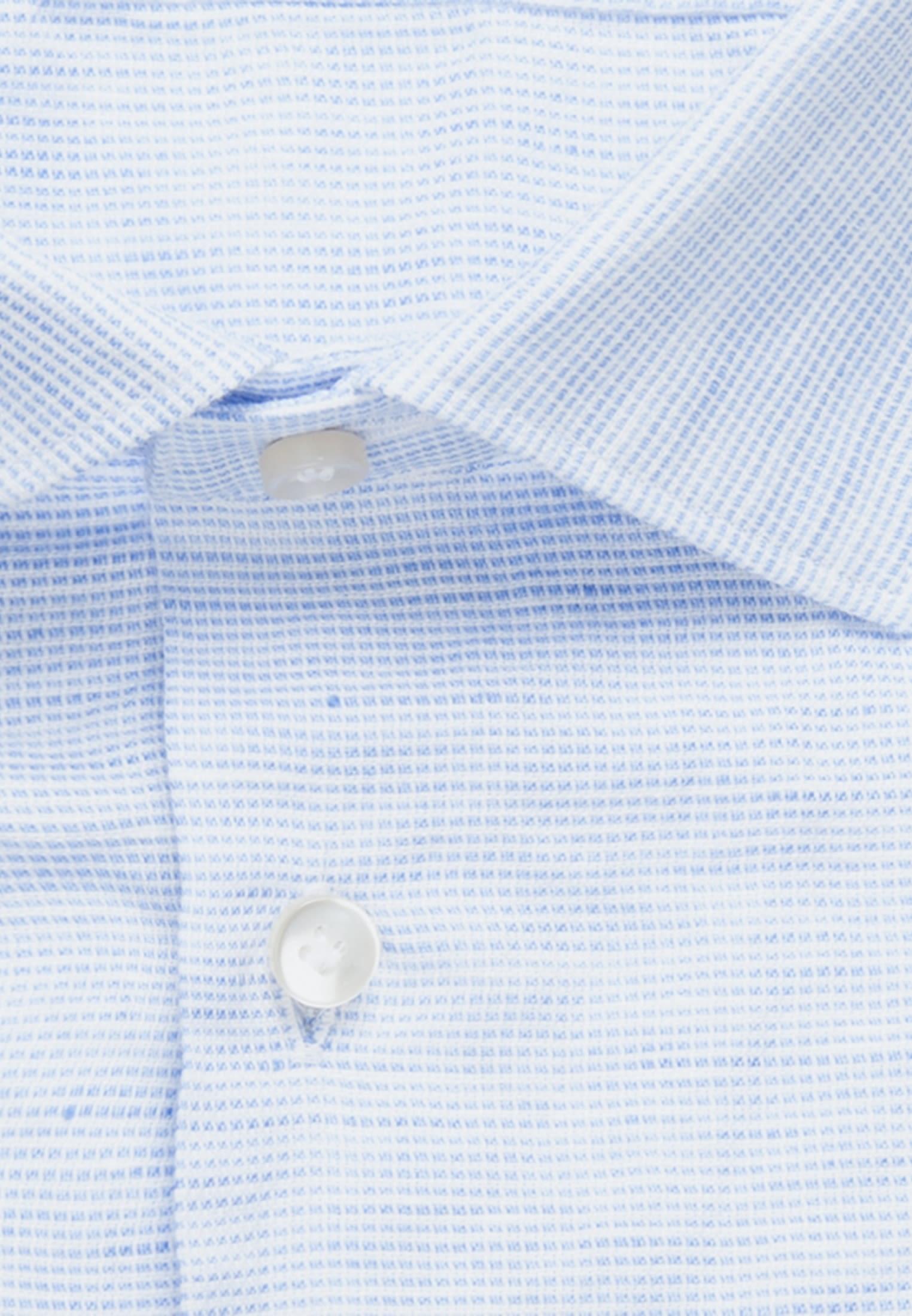 Struktur Smart Casual Hemd in Perfect Fit mit Kentkragen in Hellblau |  Jacques Britt Onlineshop