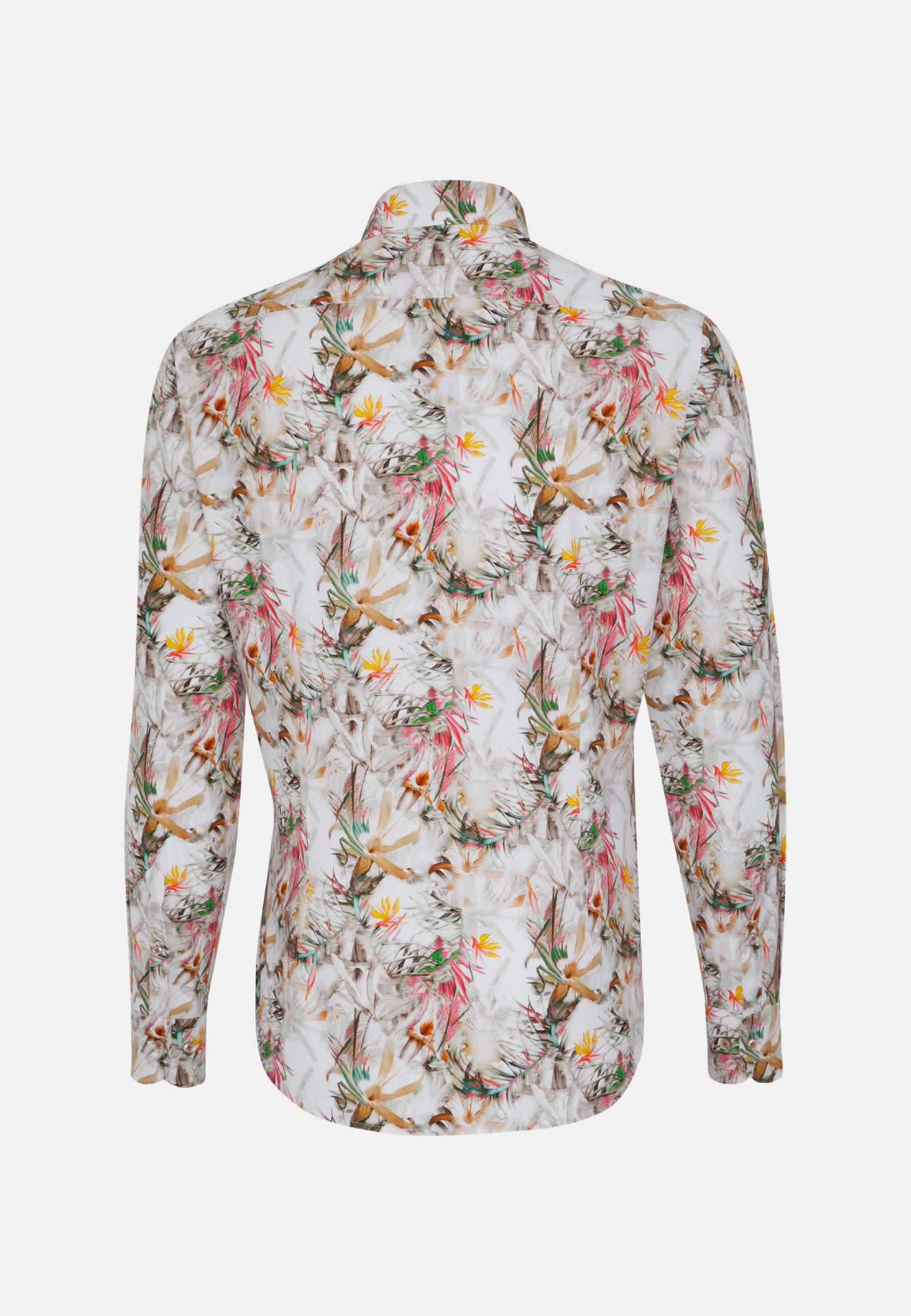 Bügelfreies Popeline Smart Casual Hemd in Perfect Fit mit Kentkragen in Braun |  Jacques Britt Onlineshop