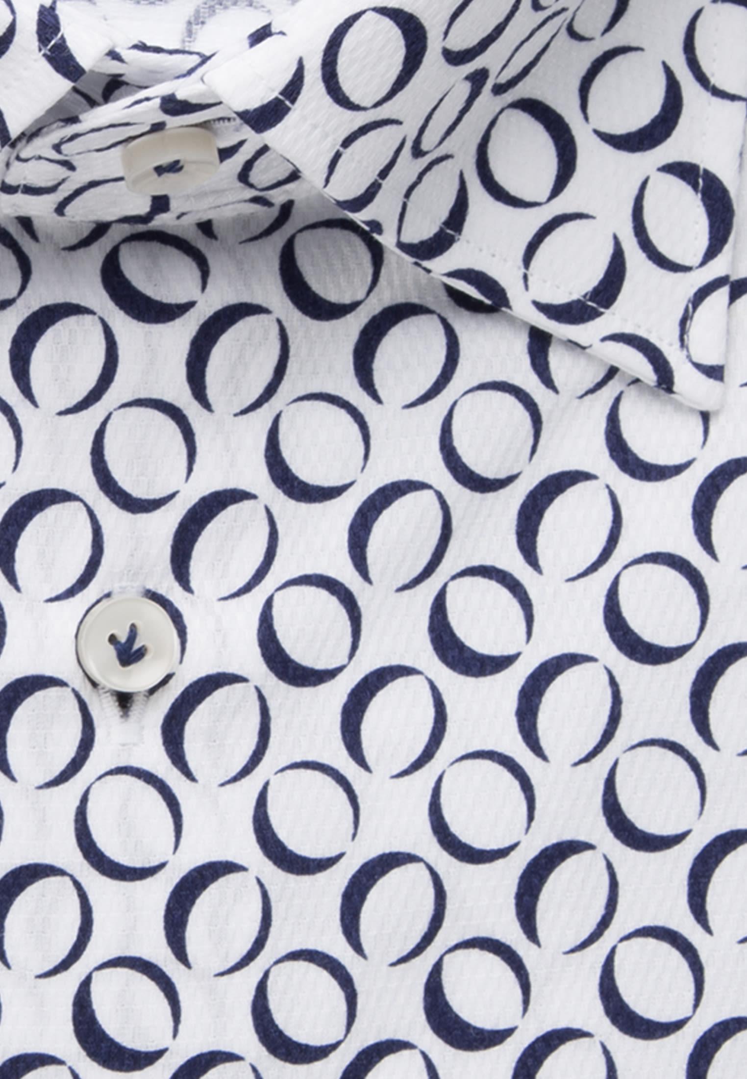 Popeline Business Hemd in Slim Fit mit Under-Button-Down-Kragen in Dunkelblau |  Jacques Britt Onlineshop