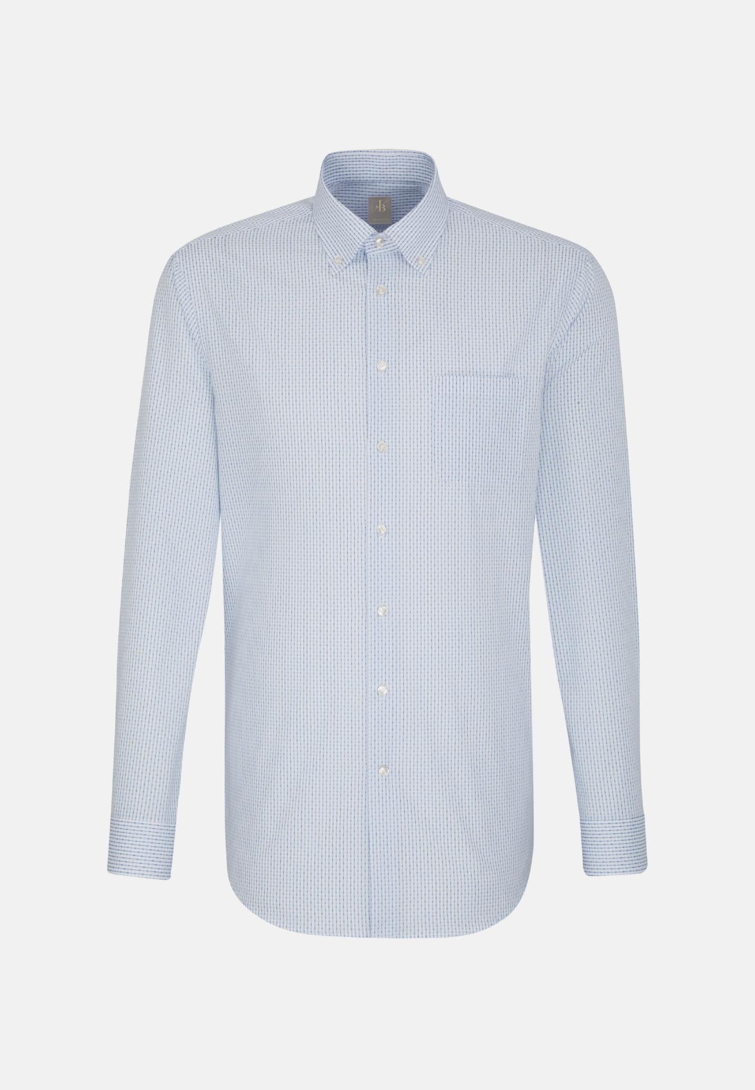 Popeline Business Hemd in Slim Fit mit Button-Down-Kragen in Hellblau    Jacques Britt Onlineshop