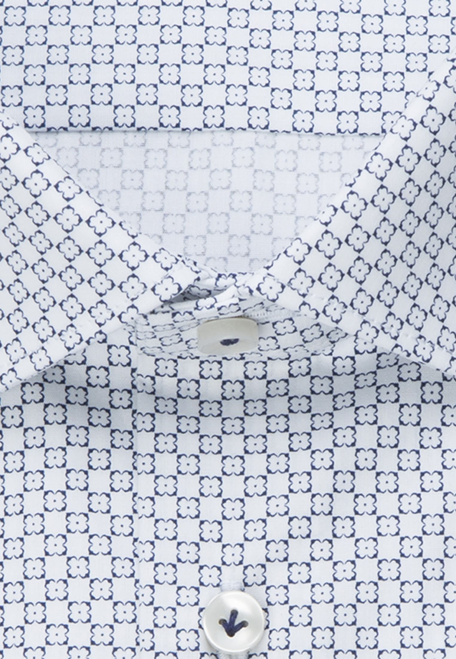 Popeline Business Hemd in Slim Fit mit Kentkragen in Dunkelblau |  Jacques Britt Onlineshop