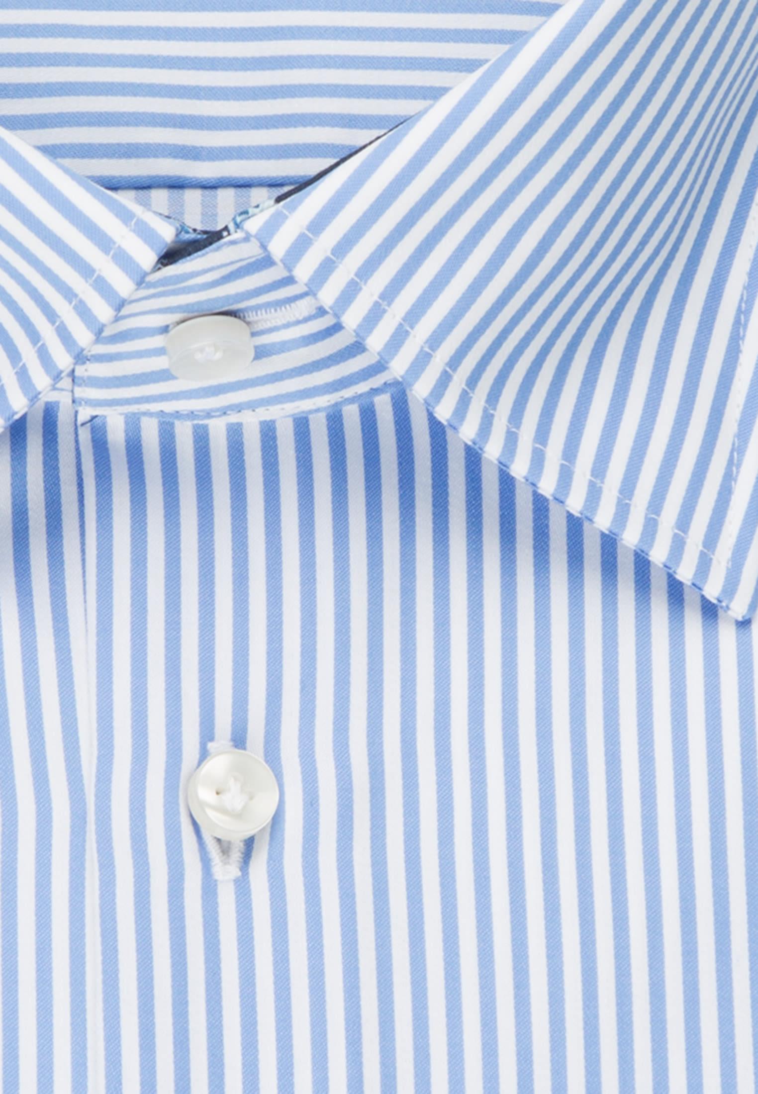 Satin Business Hemd in Custom Fit mit Under-Button-Down-Kragen und extra langem Arm in Hellblau |  Jacques Britt Onlineshop