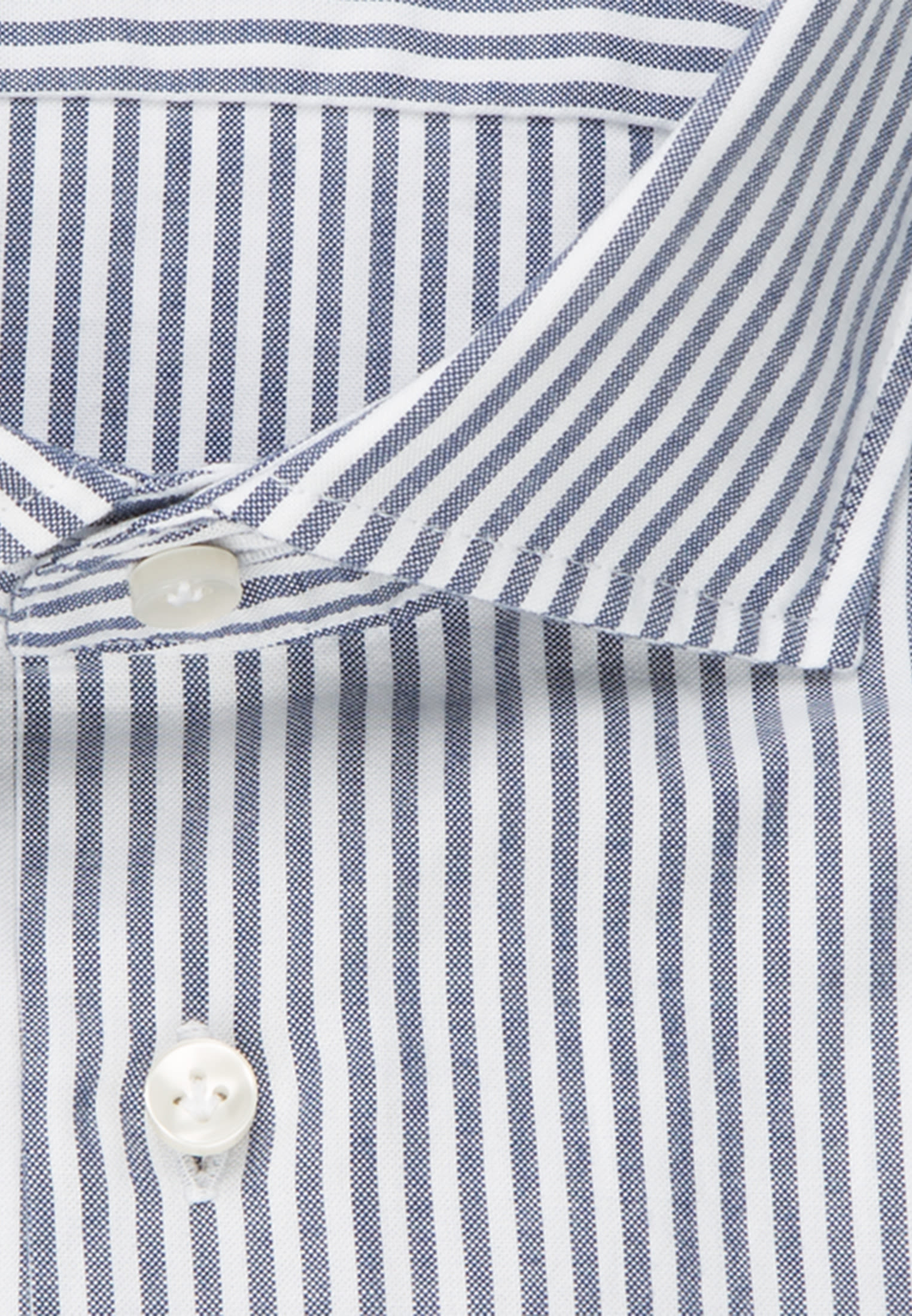 Oxford Smart Casual Hemd in Perfect Fit mit Haifischkragen in Dunkelblau |  Jacques Britt Onlineshop
