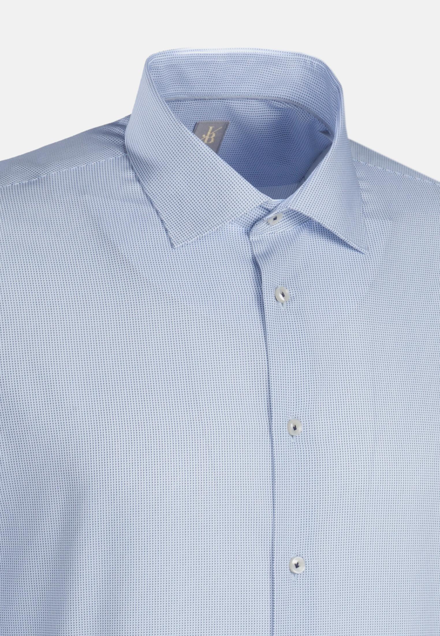 Popeline Business Hemd in Custom Fit mit Kentkragen in Hellblau |  Jacques Britt Onlineshop