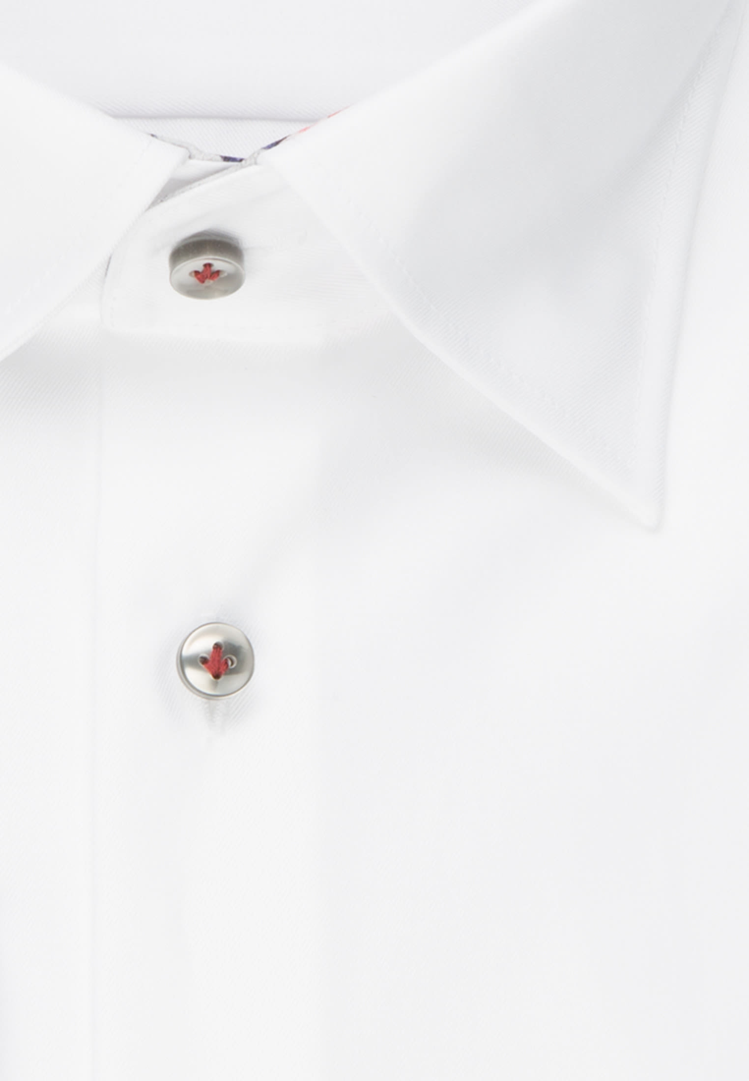 Twill Business Hemd in Custom Fit mit Under-Button-Down-Kragen in Weiß |  Jacques Britt Onlineshop