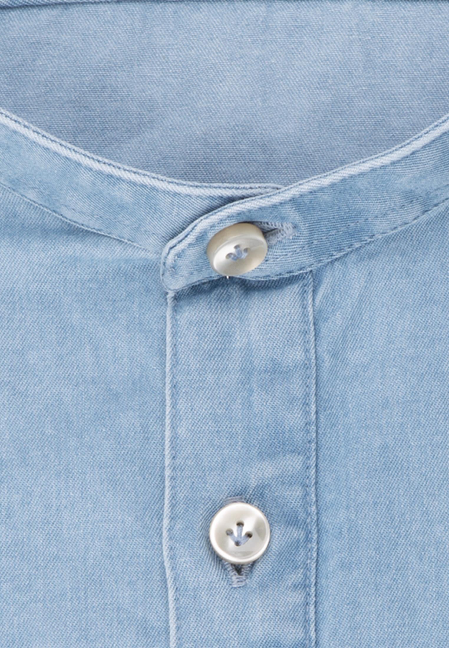 Denim Smart Casual Hemd in Perfect Fit mit Stehkragen in Hellblau    Jacques Britt Onlineshop