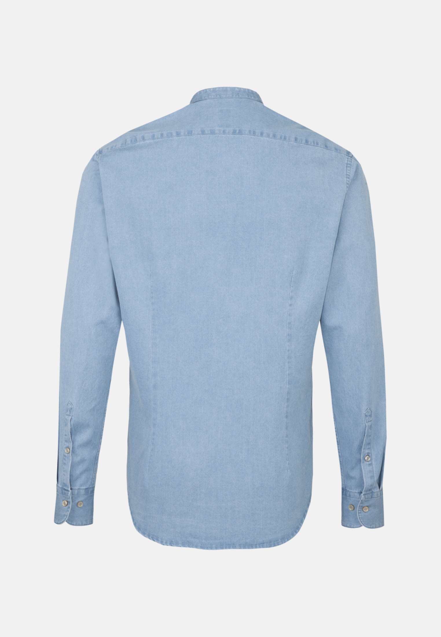 Denim Smart Casual Hemd in Perfect Fit mit Stehkragen in Hellblau |  Jacques Britt Onlineshop