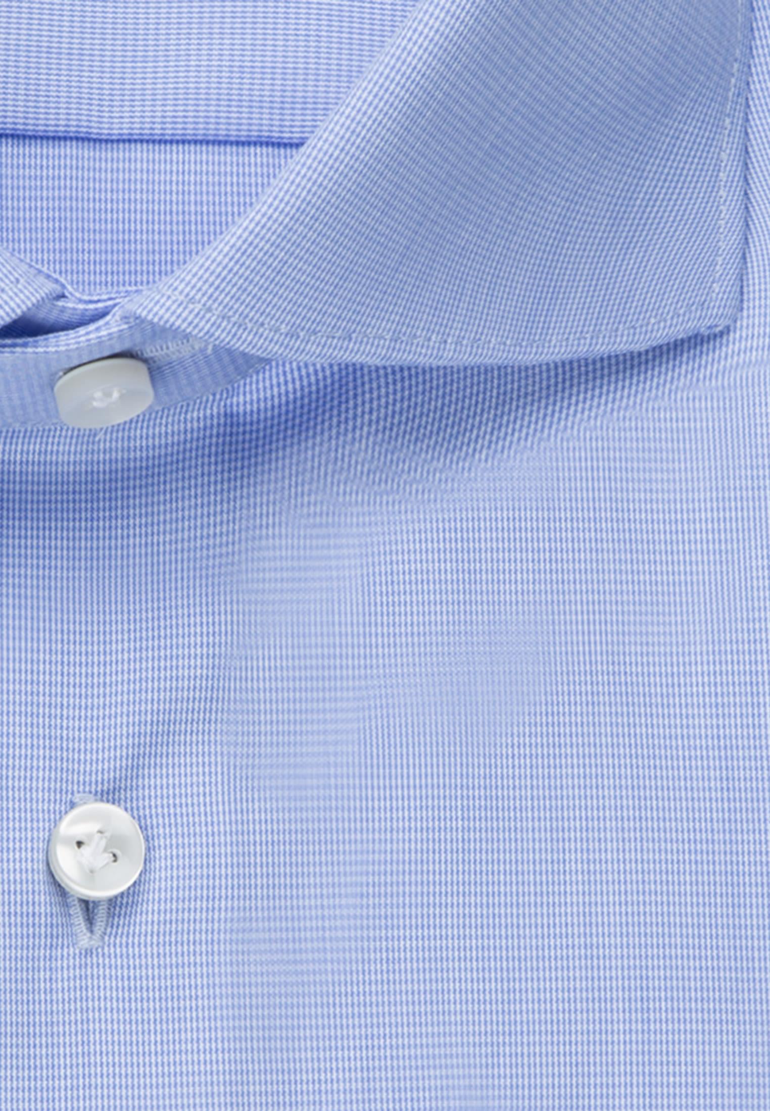 Hahnentritt Business Hemd in Slim Fit mit Kentkragen in Hellblau    Jacques Britt Onlineshop
