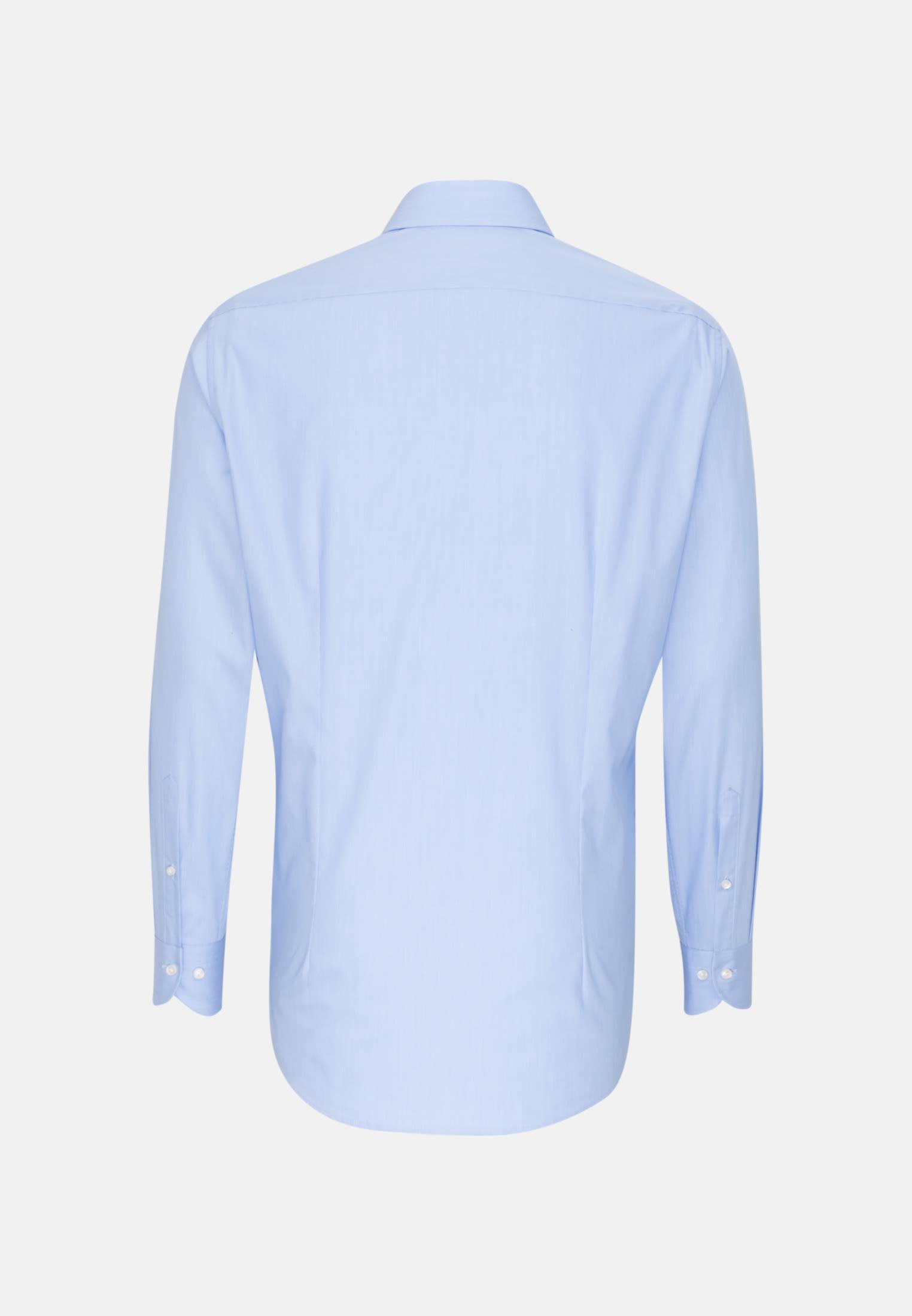 Hahnentritt Business Hemd in Slim Fit mit Kentkragen in Hellblau |  Jacques Britt Onlineshop