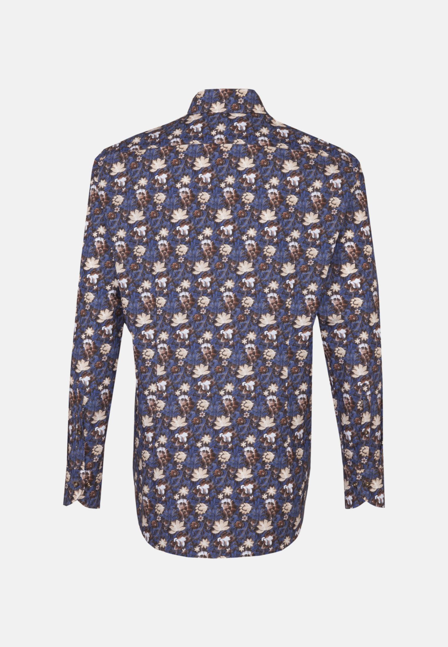 Popeline Business Hemd in Custom Fit mit Haifischkragen in Braun |  Jacques Britt Onlineshop