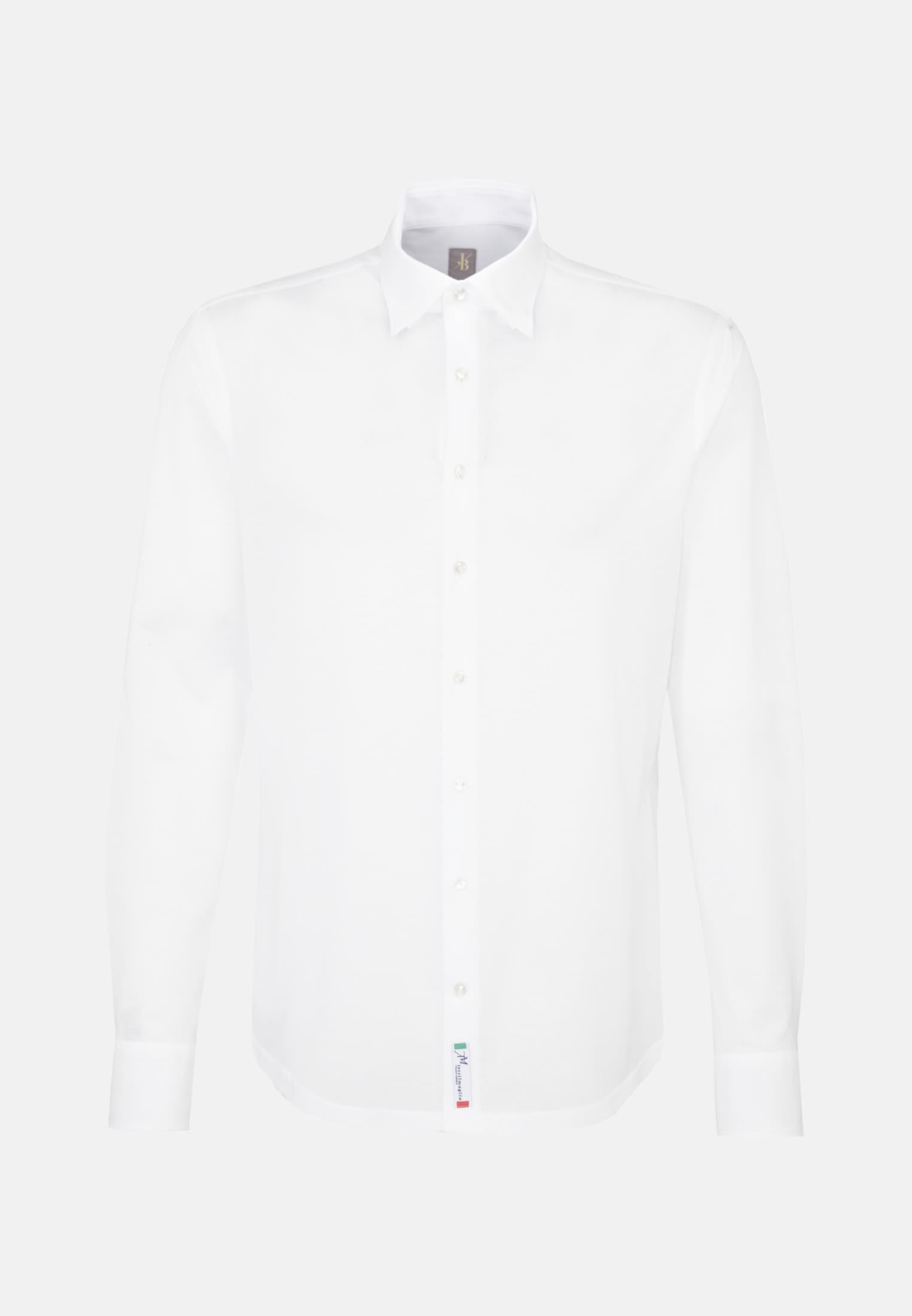 Jersey Smart Casual Hemd in Perfect Fit mit Under-Button-Down-Kragen in Weiß    Jacques Britt Onlineshop