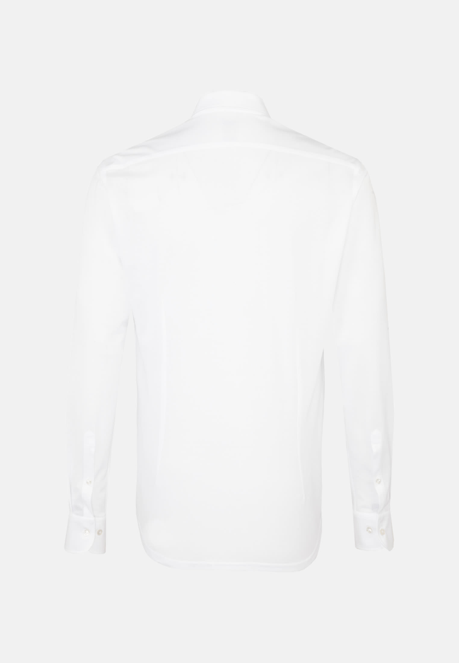 Jersey Smart Casual Hemd in Perfect Fit mit Under-Button-Down-Kragen in Weiß |  Jacques Britt Onlineshop