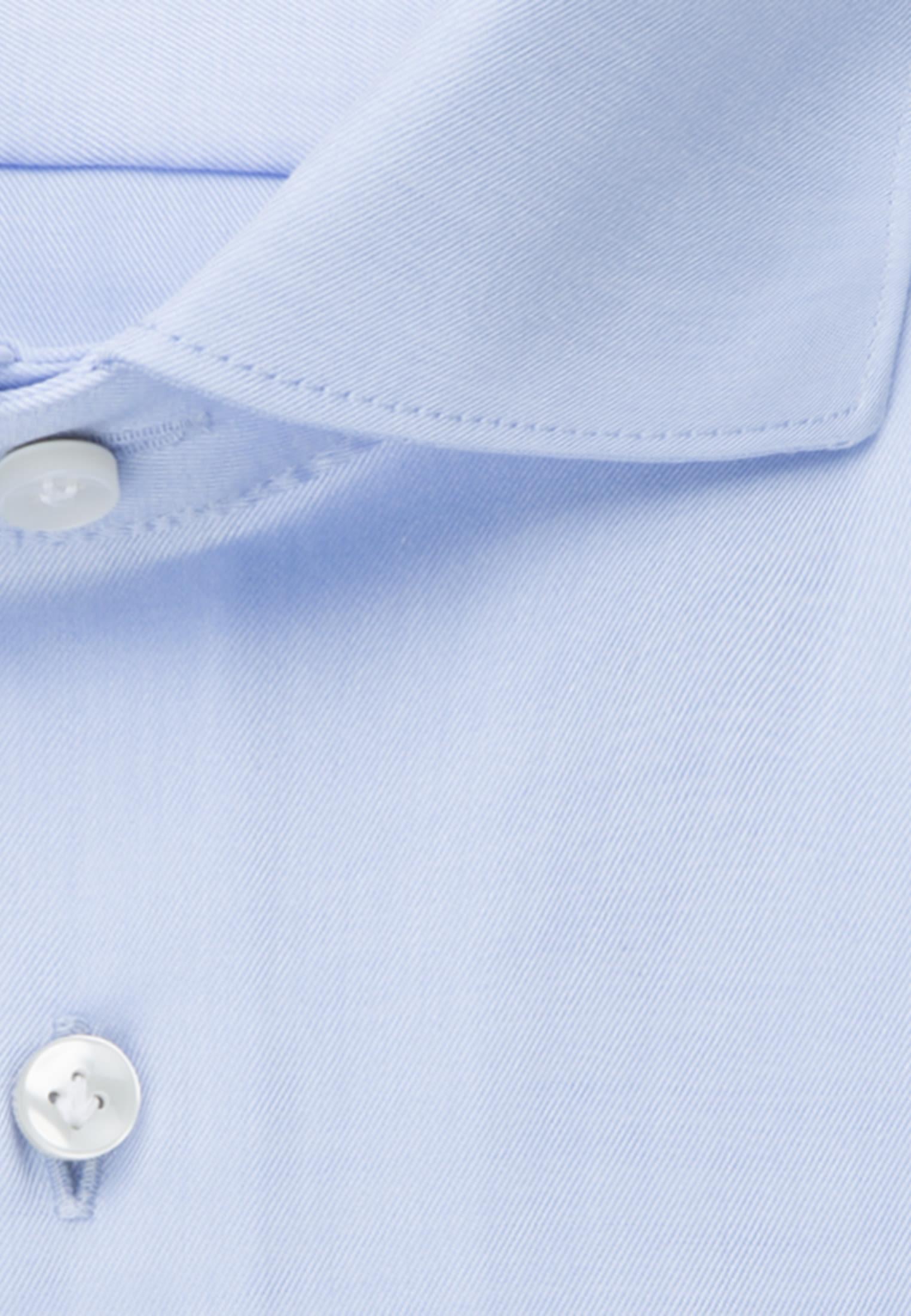 Twill Business Hemd in Custom Fit mit Haifischkragen in Hellblau |  Jacques Britt Onlineshop