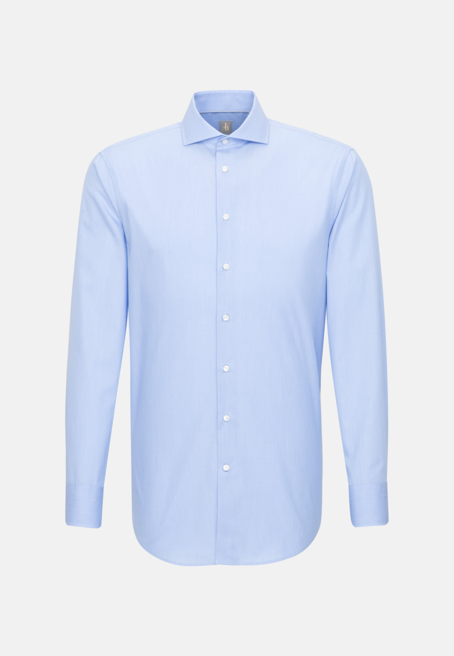 Hahnentritt Business Hemd in Custom Fit mit Kentkragen in Hellblau |  Jacques Britt Onlineshop