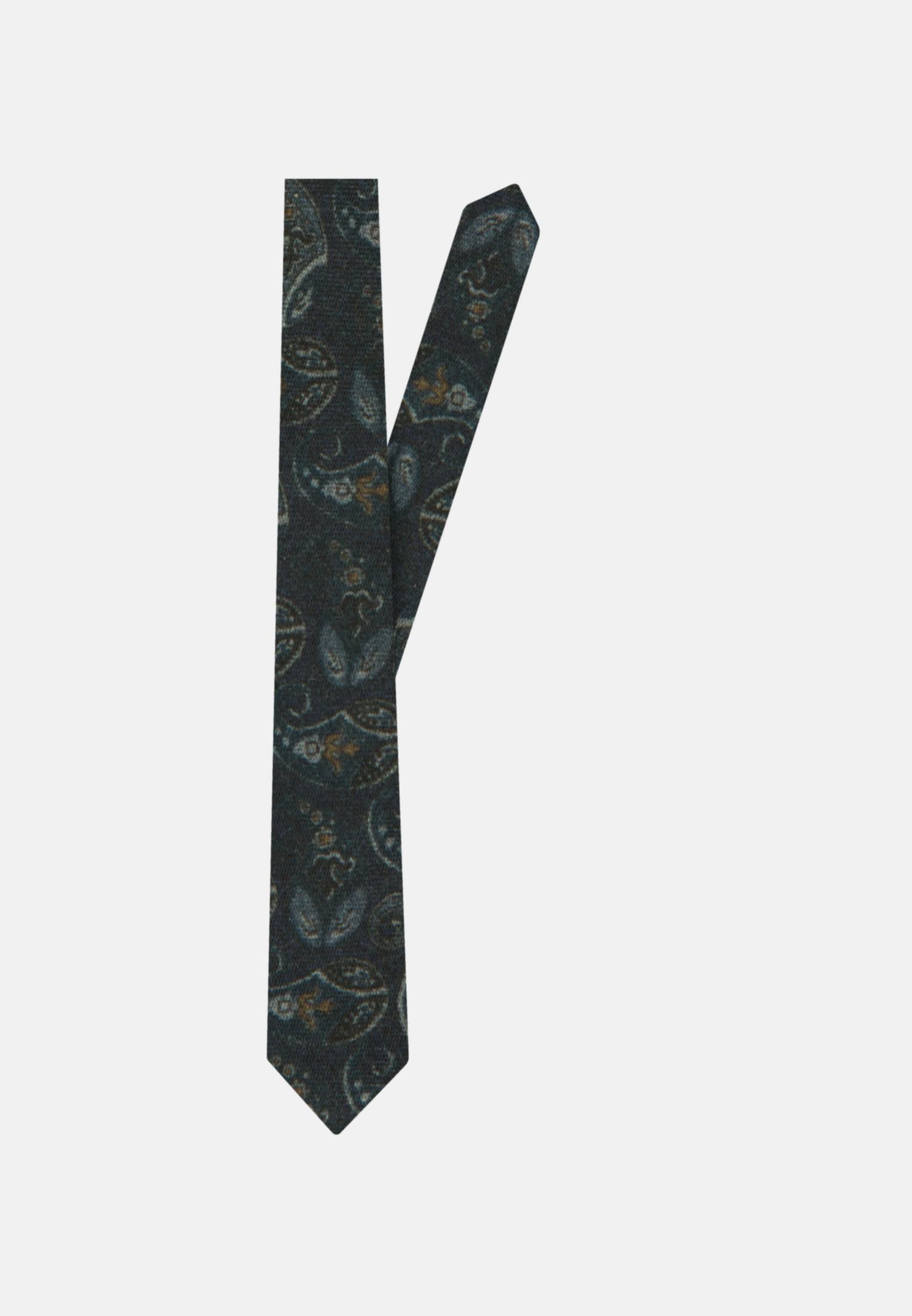 Krawatte aus 100% Wolle 7 cm Breit in Dunkelblau |  Jacques Britt Onlineshop