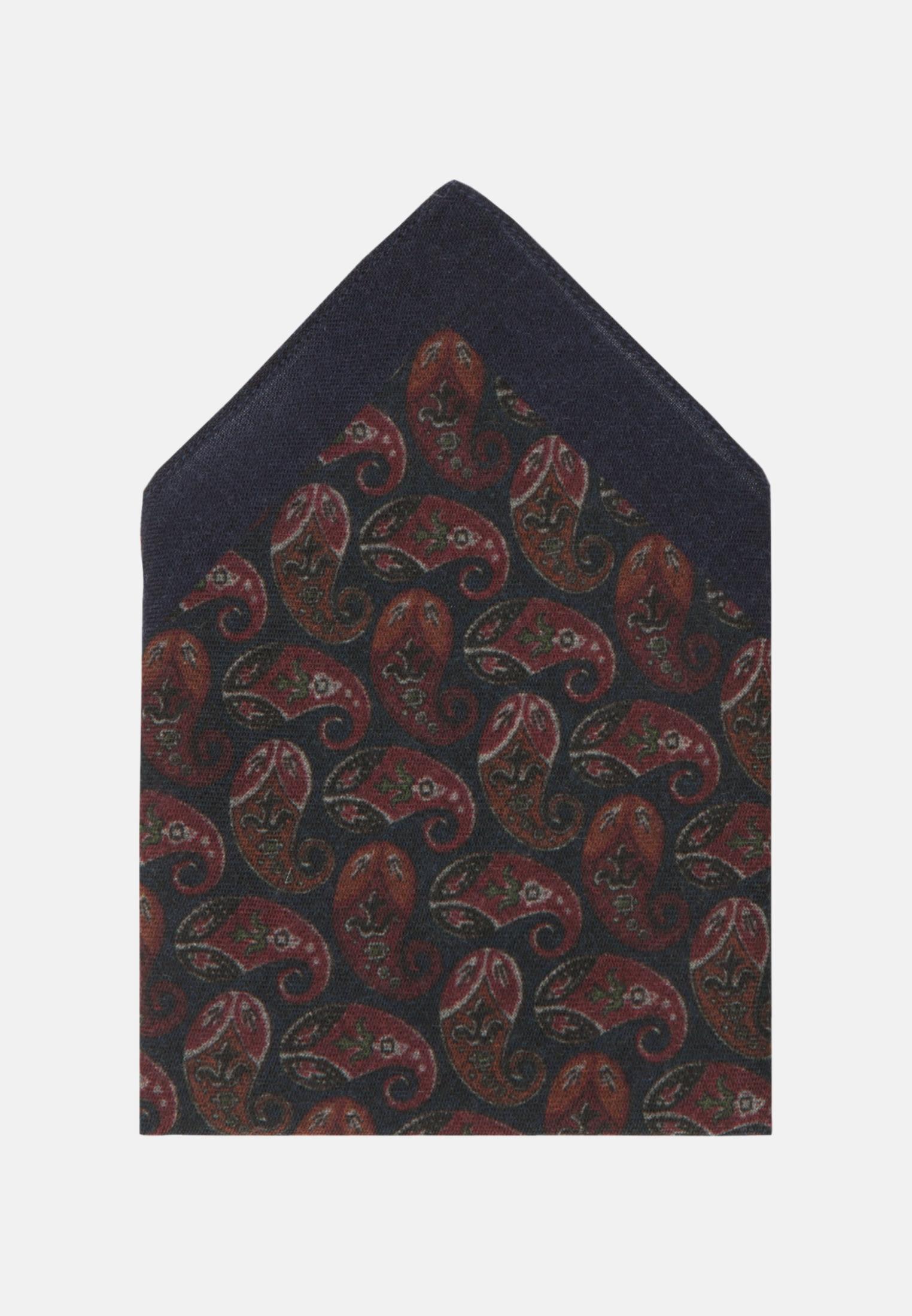 Einstecktuch aus 100% Wolle in Rot |  Jacques Britt Onlineshop