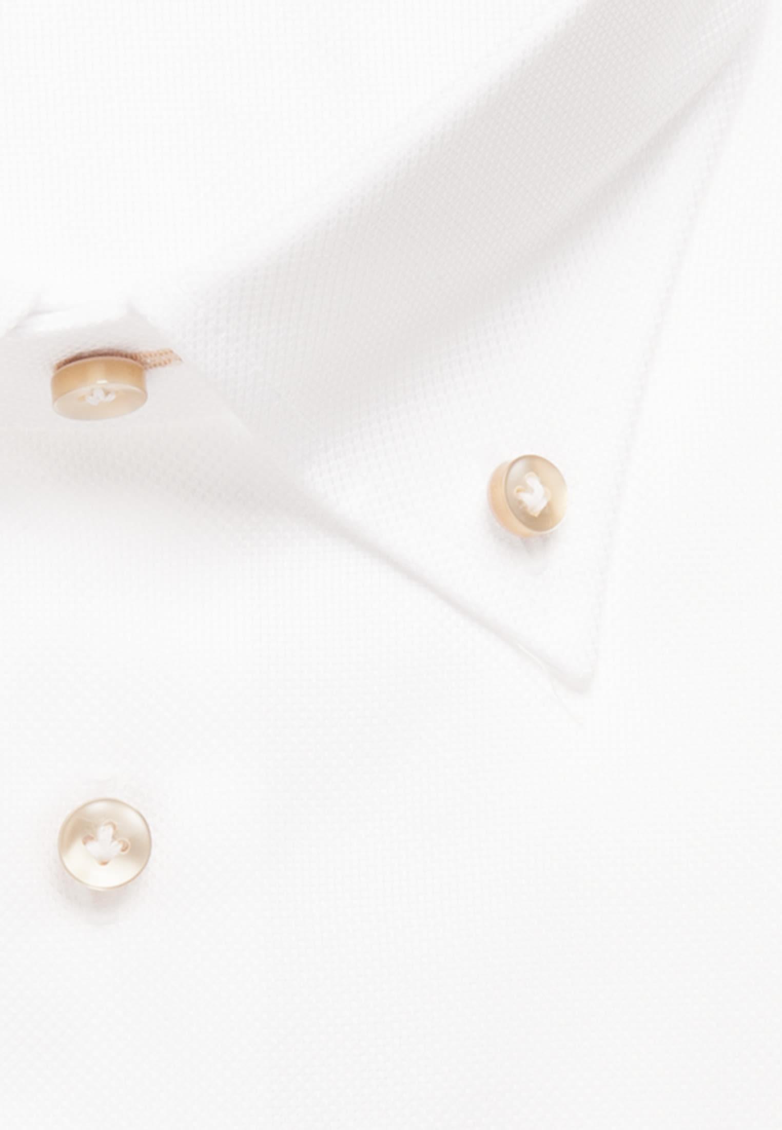 Struktur Business Hemd in Custom Fit mit Button-Down-Kragen in Weiß |  Jacques Britt Onlineshop